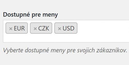 Zvolenie meny